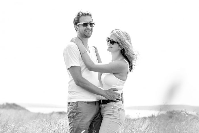 couple-embrace-on-their-engagement-photography-session