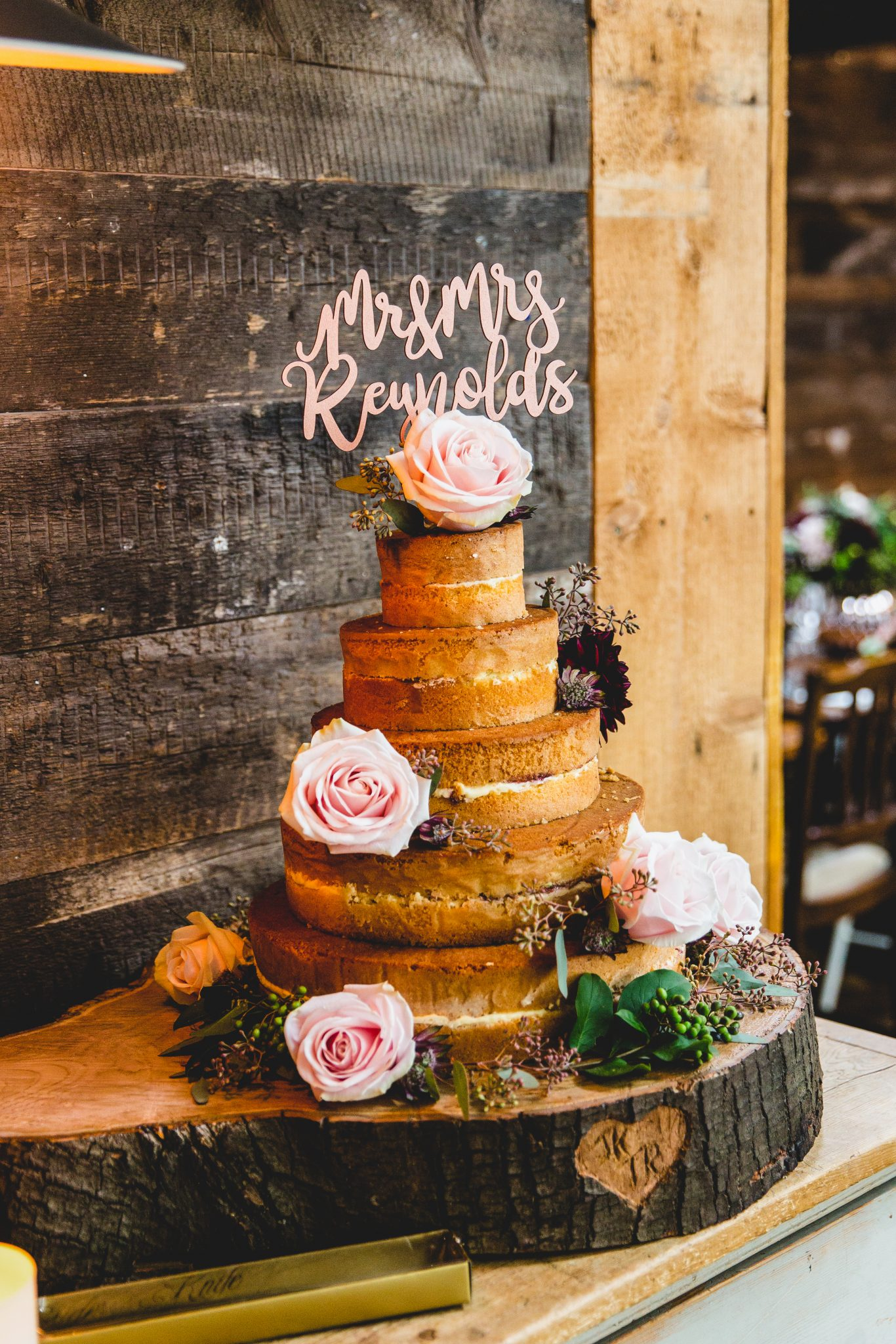 wedding cake at the frog and wicket pub