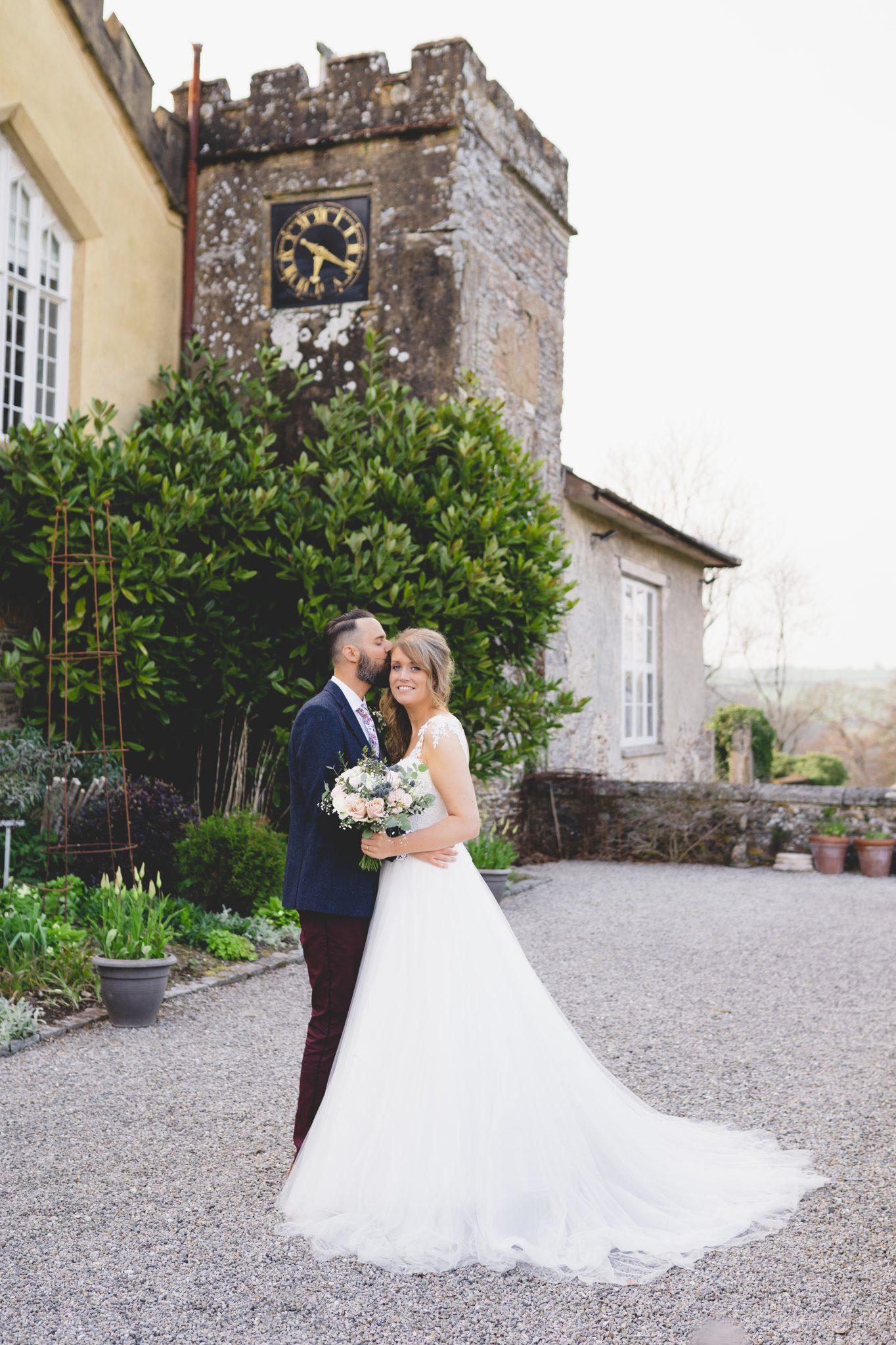 Pentillie Castle Wedding Bride and Groom Portraits