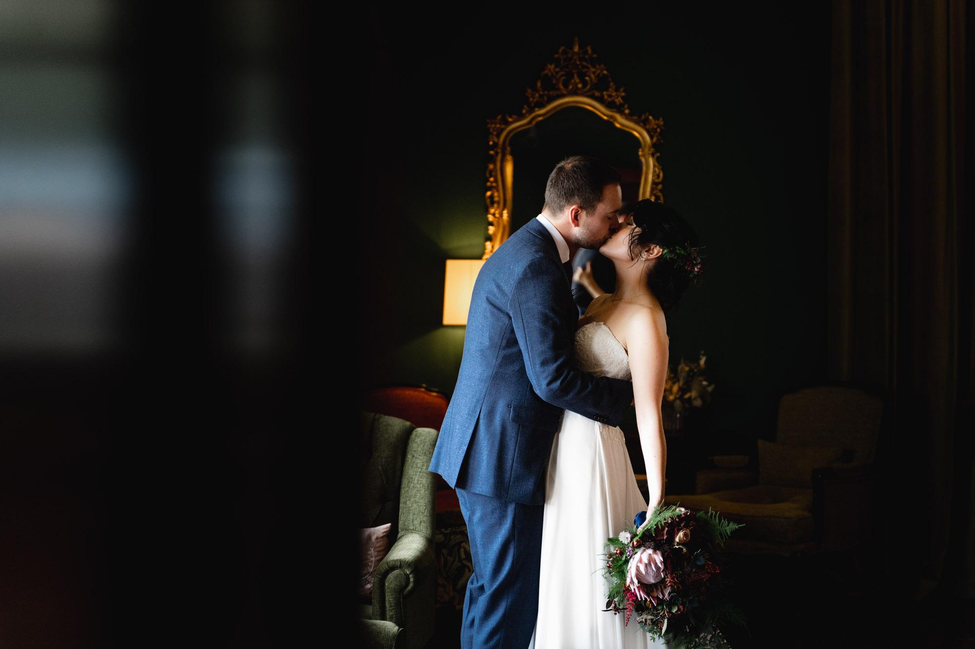 bride-and-groom-at-burley-manor-barn-wedding